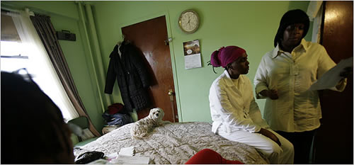 Home health aides with the Bronx-based Cooperative Home Care Associates in the Bronx, an employee-owned business.
