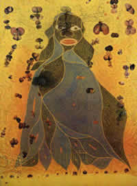 """The Holy Virgin Mary"" by Chris Ofili"