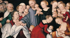 Christ Blessing the Children, Lucas Cranach, the Younger, 1540s