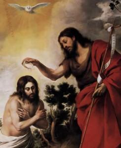 Baptism of Christ, Bartolomé Esteban Murillo, 1655