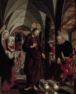 Marriage at Cana, Michael Pacher St. Wolfgang Altarpiece, 1481